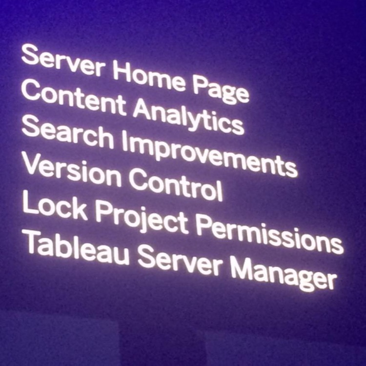 Tableau Server Features
